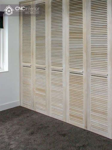 Tủ âm tường bằng gỗ tự nhiên hiện đại CNC 06 1