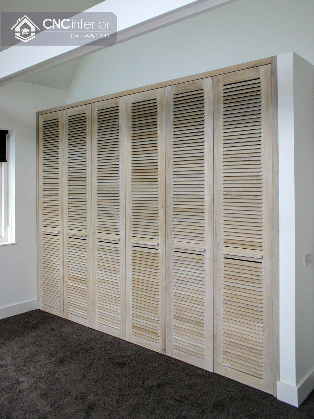 Tủ âm tường bằng gỗ tự nhiên hiện đại CNC 06