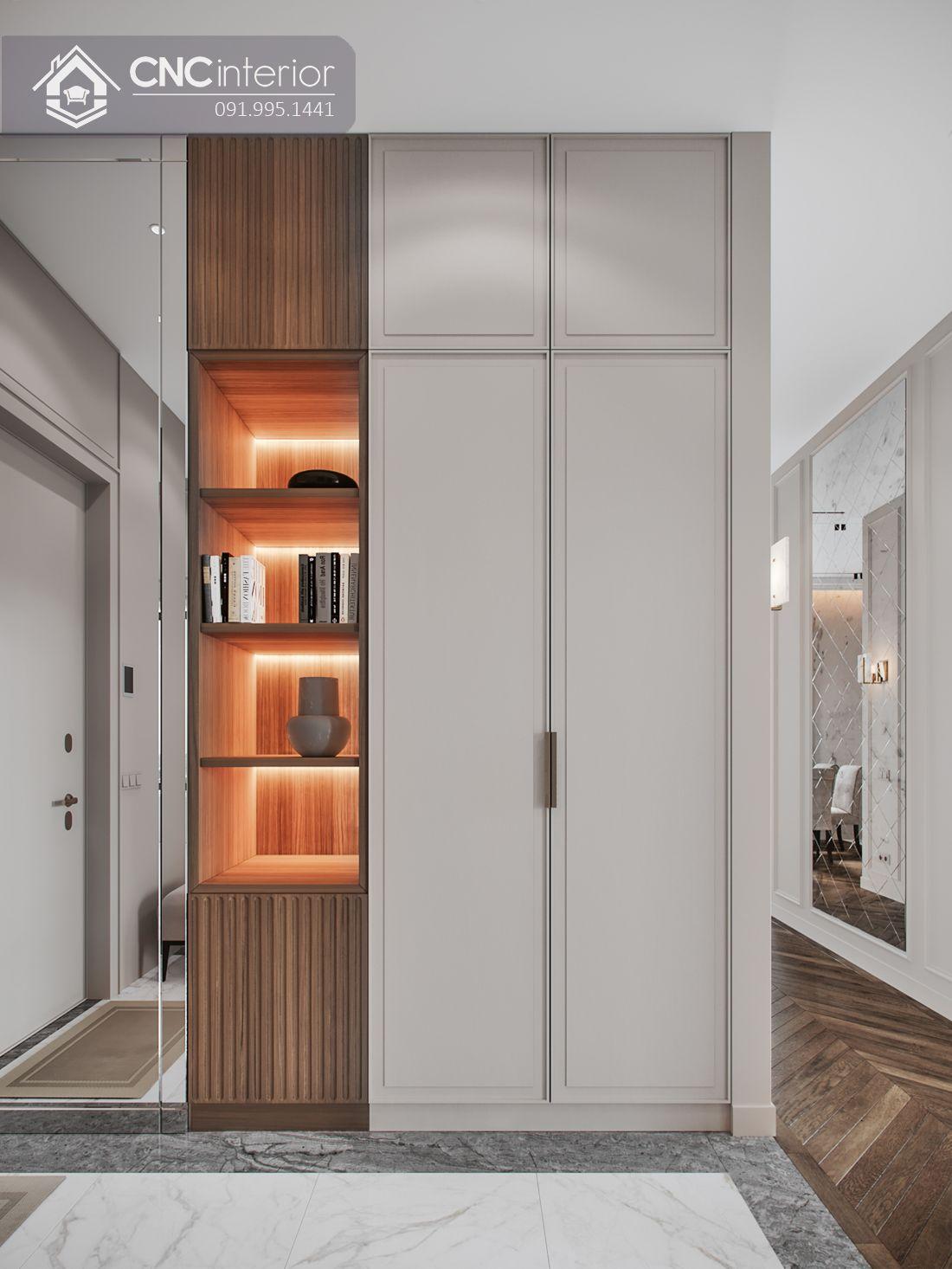 Tủ âm tường phòng ngủ tân cổ điển CNC 07 1