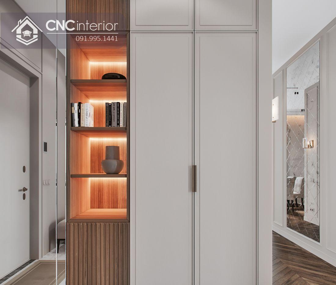 Tủ âm tường phòng ngủ tân cổ điển CNC 07