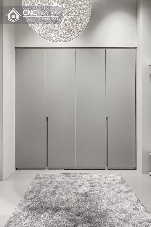 Tủ âm tường bằng gỗ màu xám đơn giản CNC 13