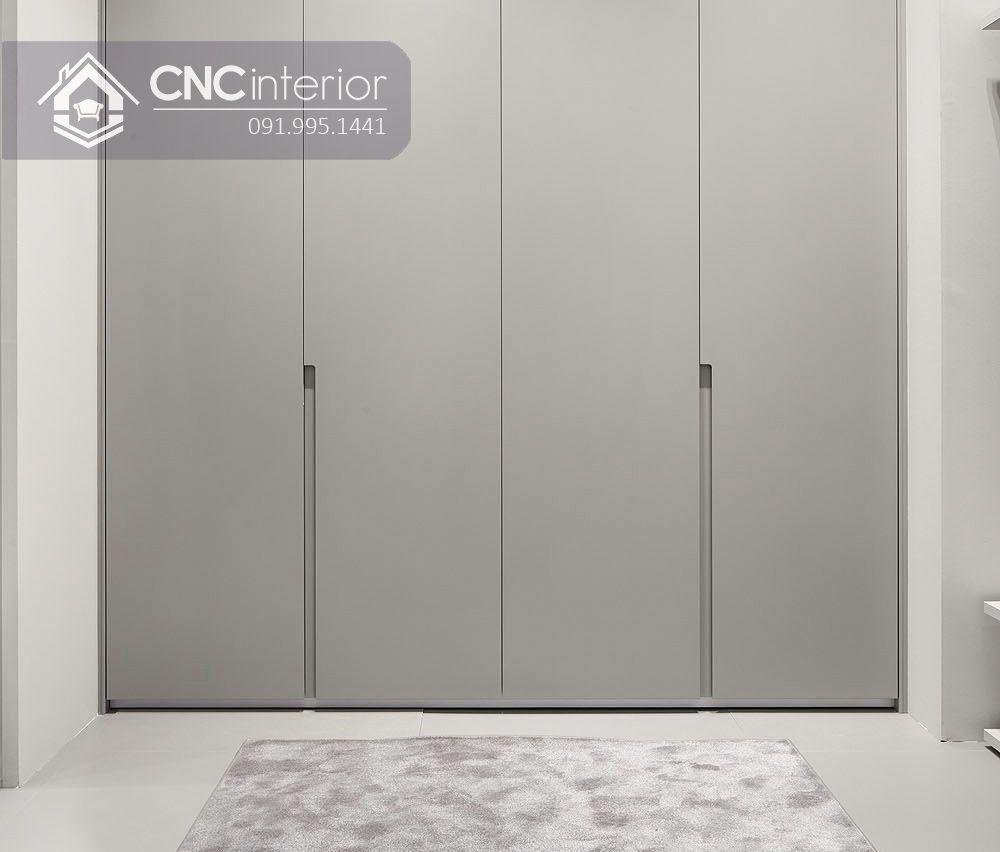 Tủ âm tường bằng gỗ màu xám đơn giản CNC 13 1