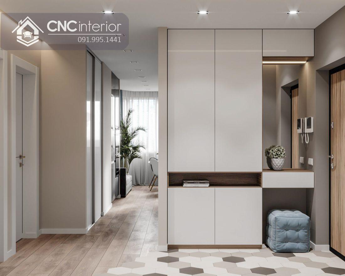 Tủ âm tường phòng ngủ kết hợp bàn phấn CNC 14 1
