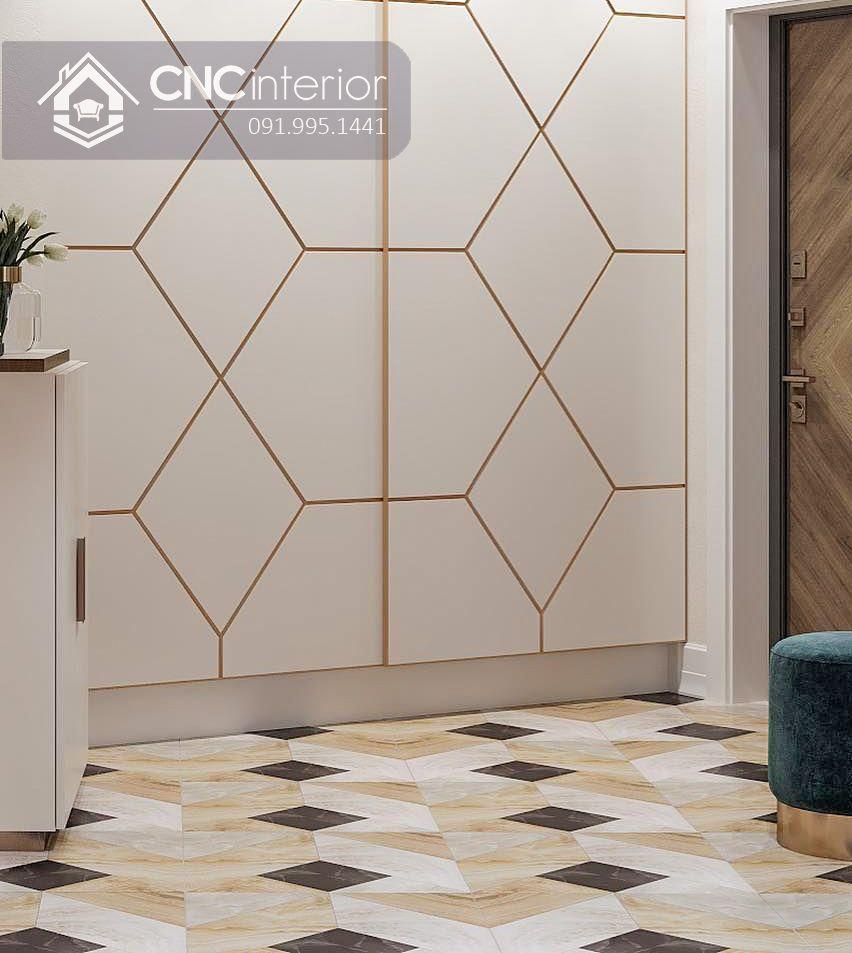 Tủ âm tường cửa lùa đẹp sang trọng CNC 03 1