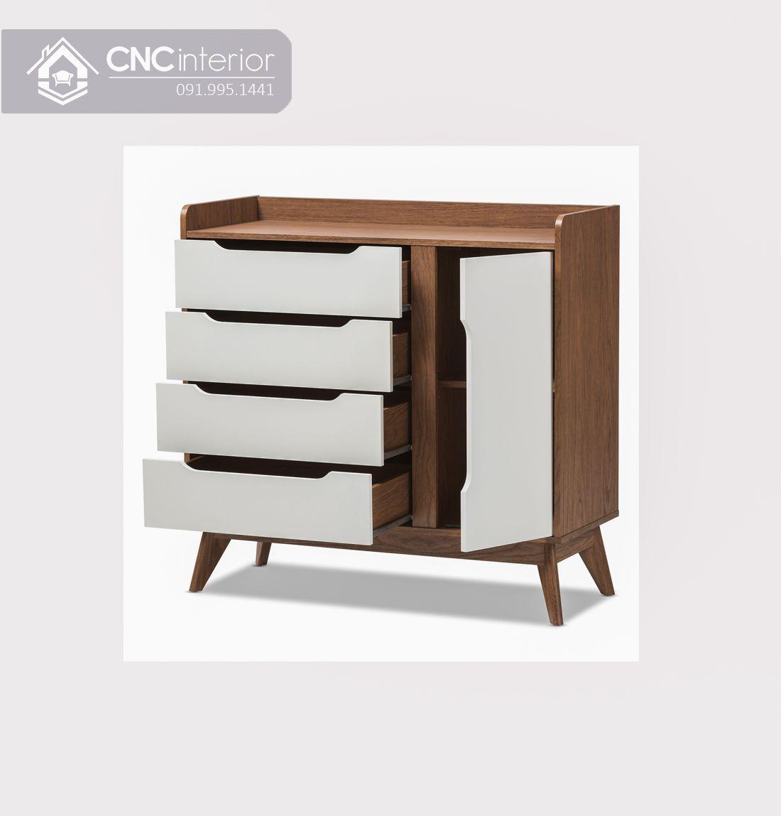 Tủ giày gỗ đẹp hiện đại tiện nghi CNC 03 3
