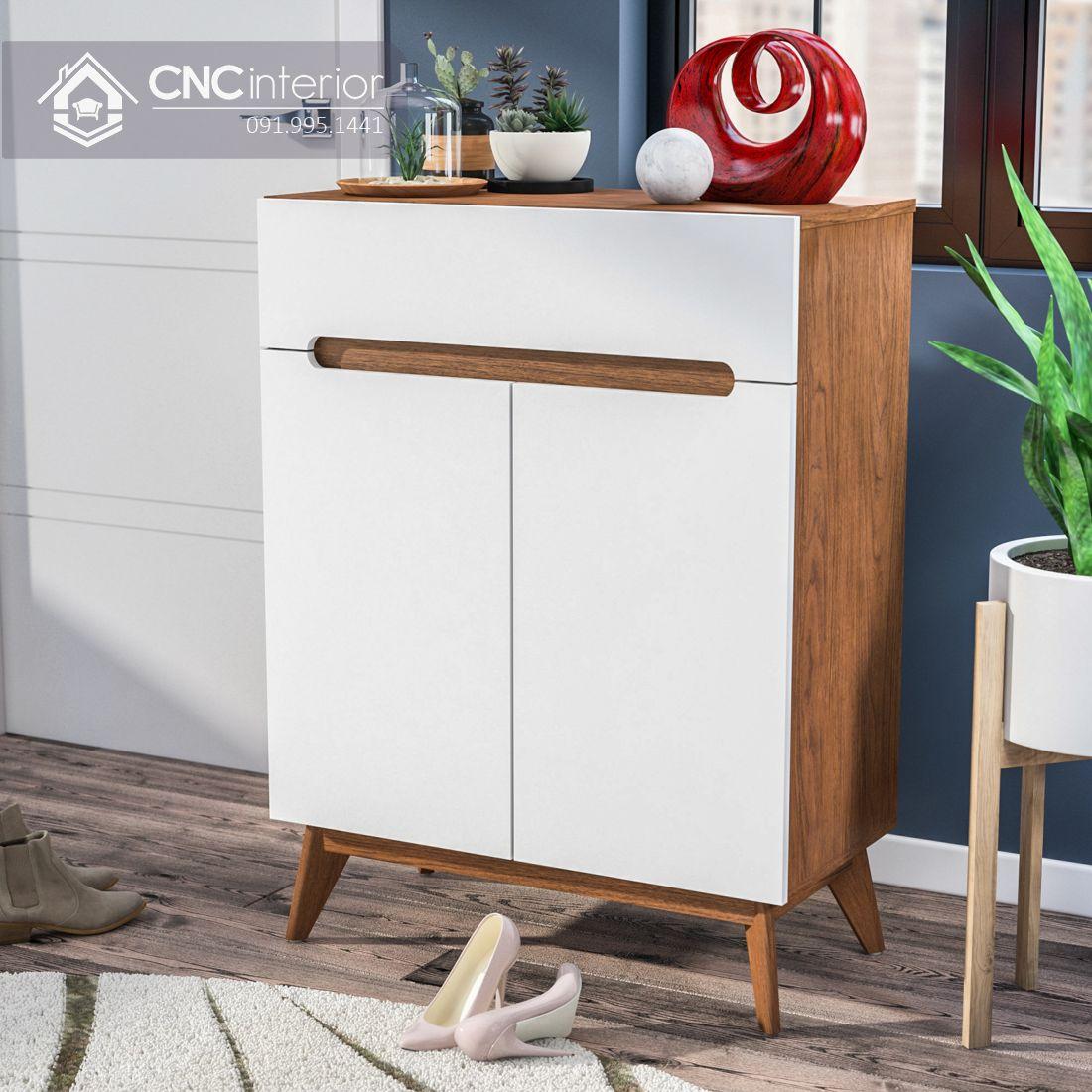 Tủ giày gỗ cao 1m2 đảm bảo tiện nghi CNC 05 2