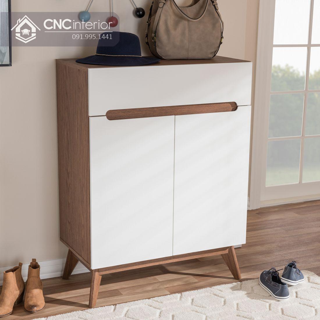 Tủ giày gỗ cao 1m2 đảm bảo tiện nghi CNC 05 3