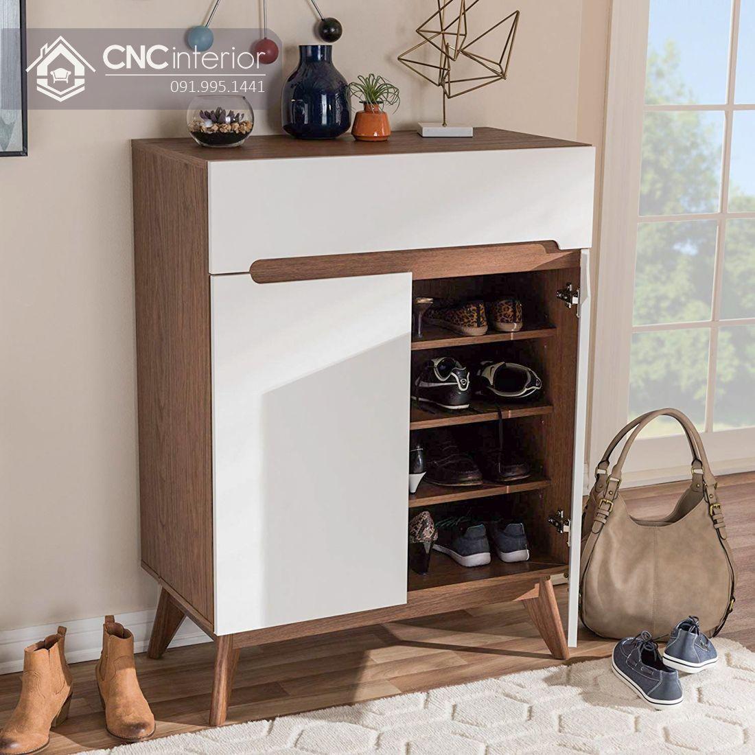 Tủ giày gỗ cao 1m2 đảm bảo tiện nghi CNC 05 4
