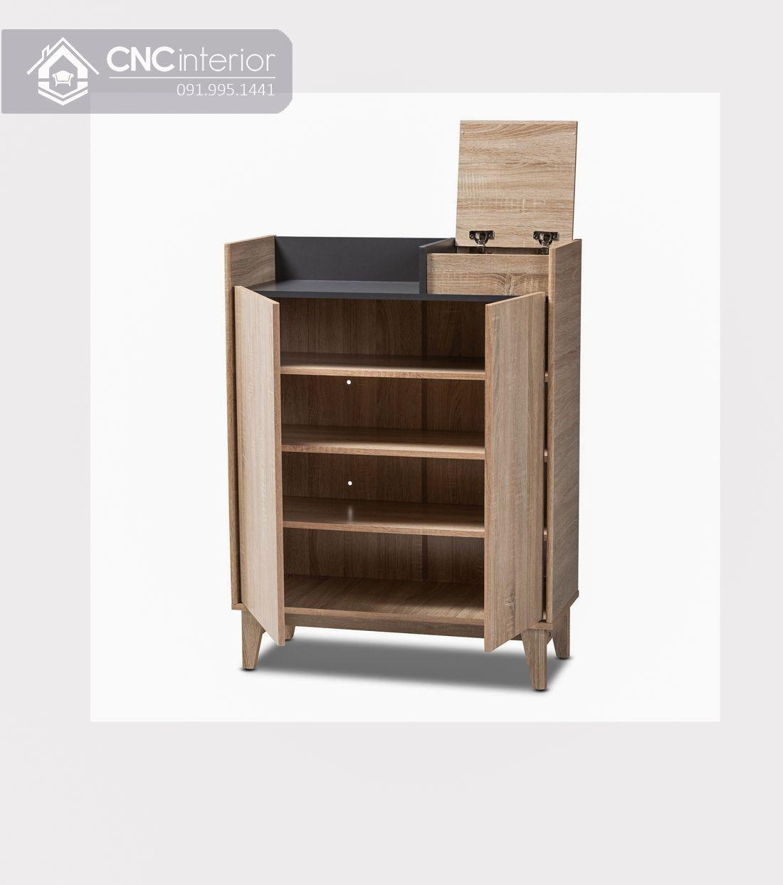 Tủ giày gỗ công nghiệp MFC hiện đại CNC 01 2