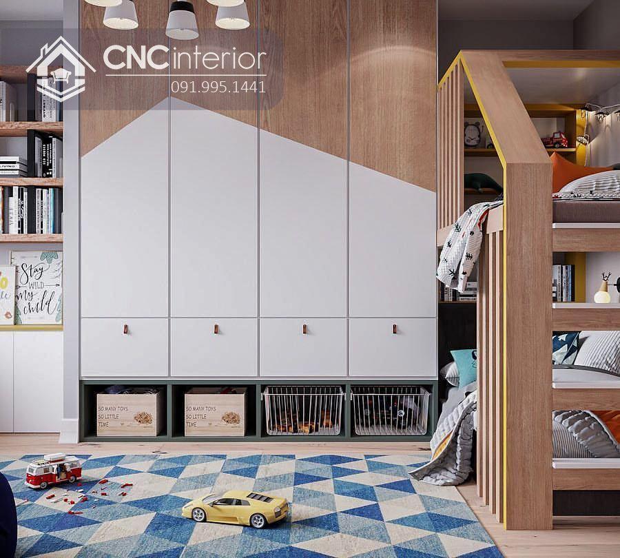 Tủ quần áo gỗ MDF bền đẹp CNC 01