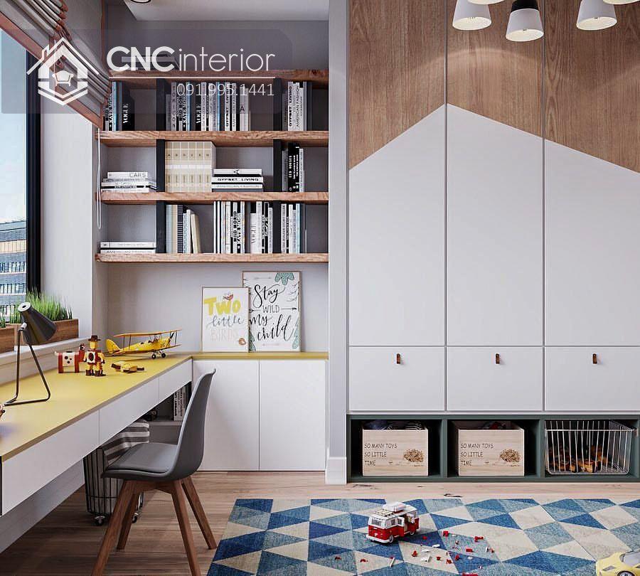 Tủ quần áo gỗ MDF bền đẹp CNC 01 - 1