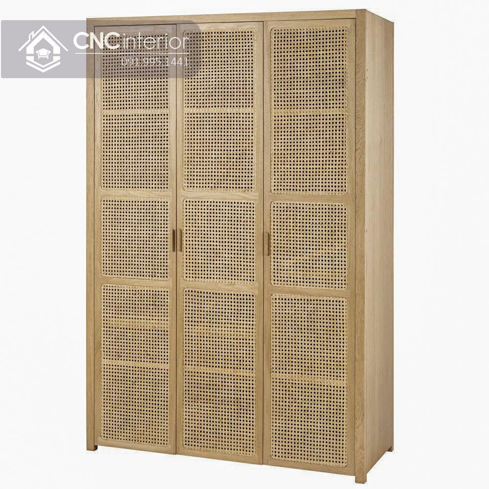 Tủ quần áo mây tre mộc mạc CNC 11 2