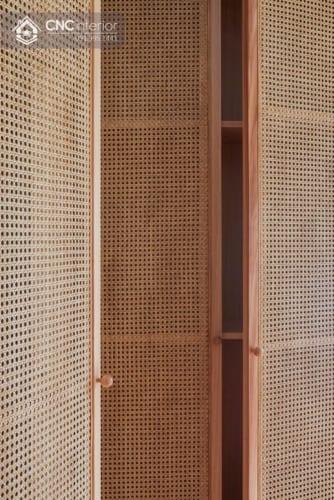 Tủ quần áo kết hợp mây đan tinh tế CNC 14 2