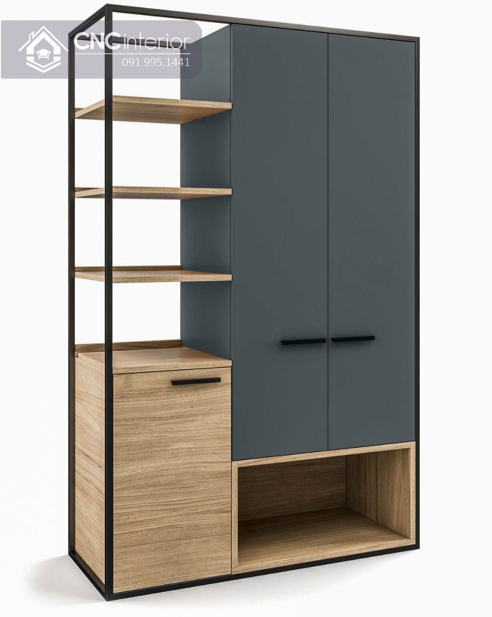 Tủ quần áo kết hợp kệ trang trí hiện đại CNC 16