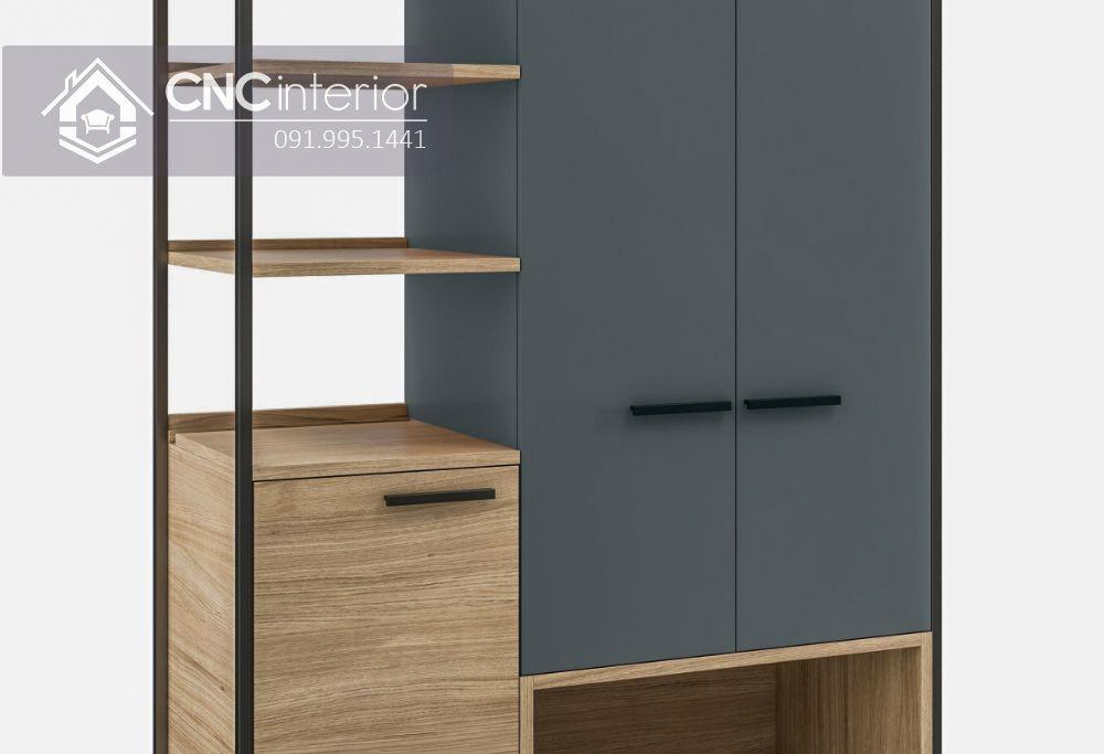 Tủ quần áo kết hợp kệ trang trí hiện đại CNC 16 1