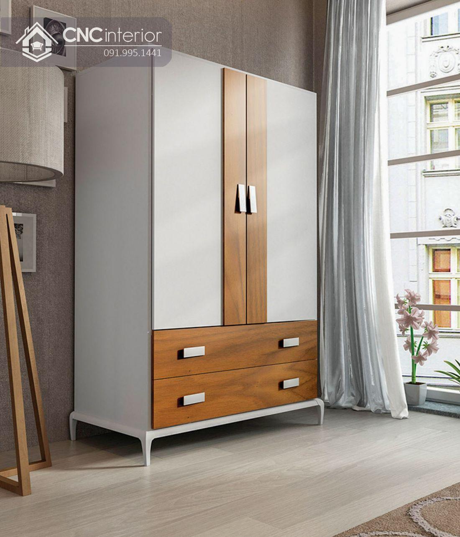 Tủ quần áo gỗ công nghiệp MFC bền chắc CNC 28