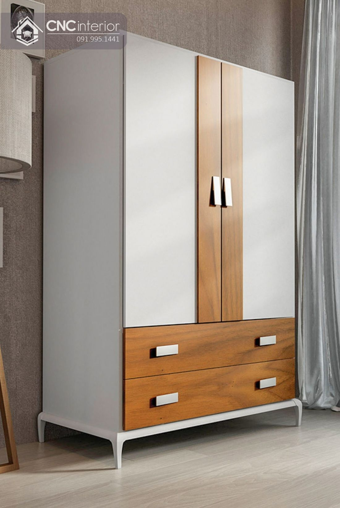 Tủ quần áo gỗ công nghiệp MFC bền chắc CNC 28 1