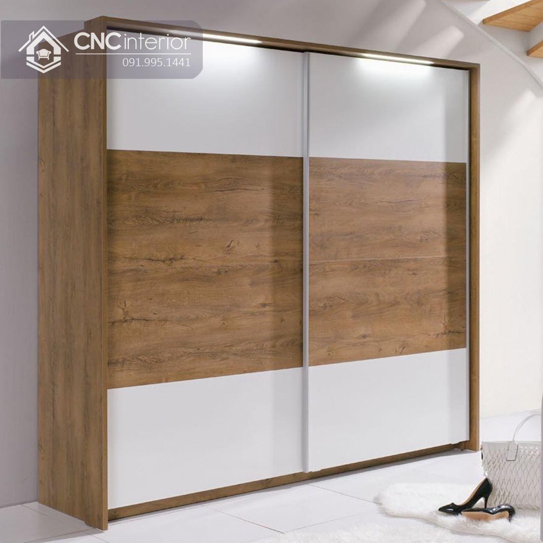 Tủ quần áo cửa lùa gỗ công nghiệp cao cấp CNC 31
