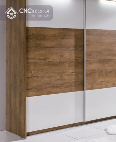 Tủ quần áo cửa lùa gỗ công nghiệp cao cấp CNC 31 1