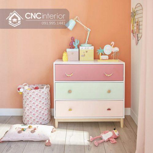 Tủ quần áo trẻ em bằng gỗ cnc 01