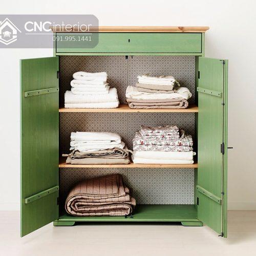 Tủ quần áo trẻ em bằng gỗ cnc 44
