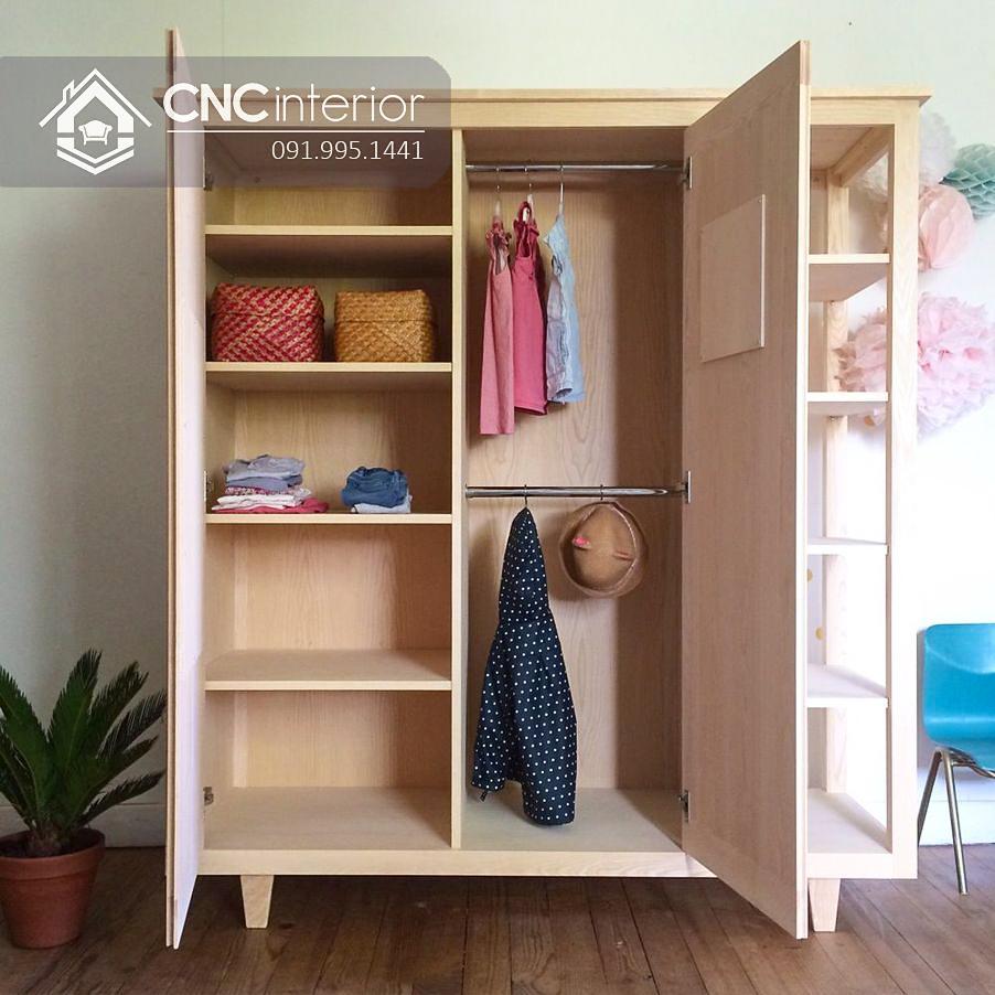 Tủ đựng quần áo cho bé gái đẹp CNC 39 1