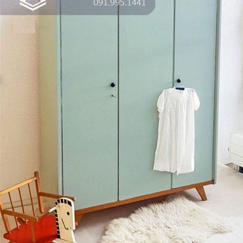 Tủ quần áo trẻ em bằng gỗ cnc 49