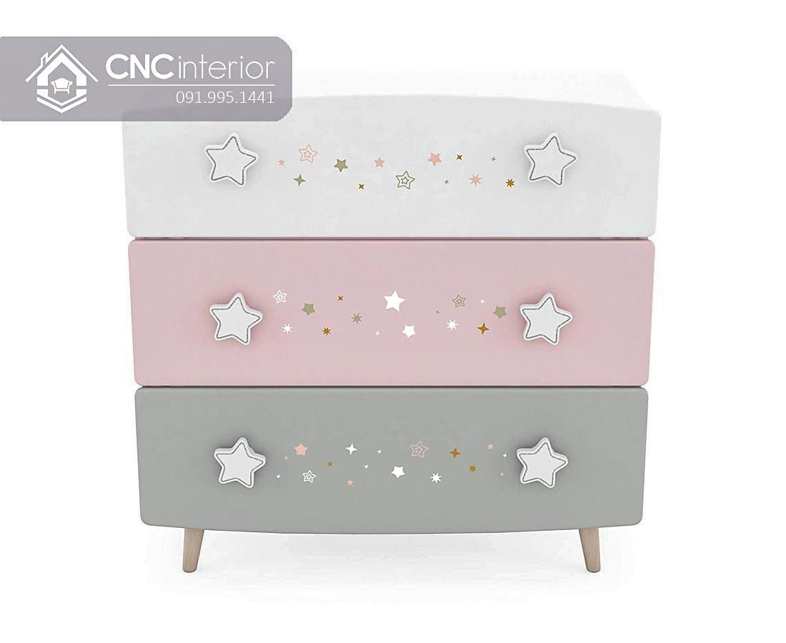 Tủ đồ ngăn kéo đẹp cho em bé CNC 51