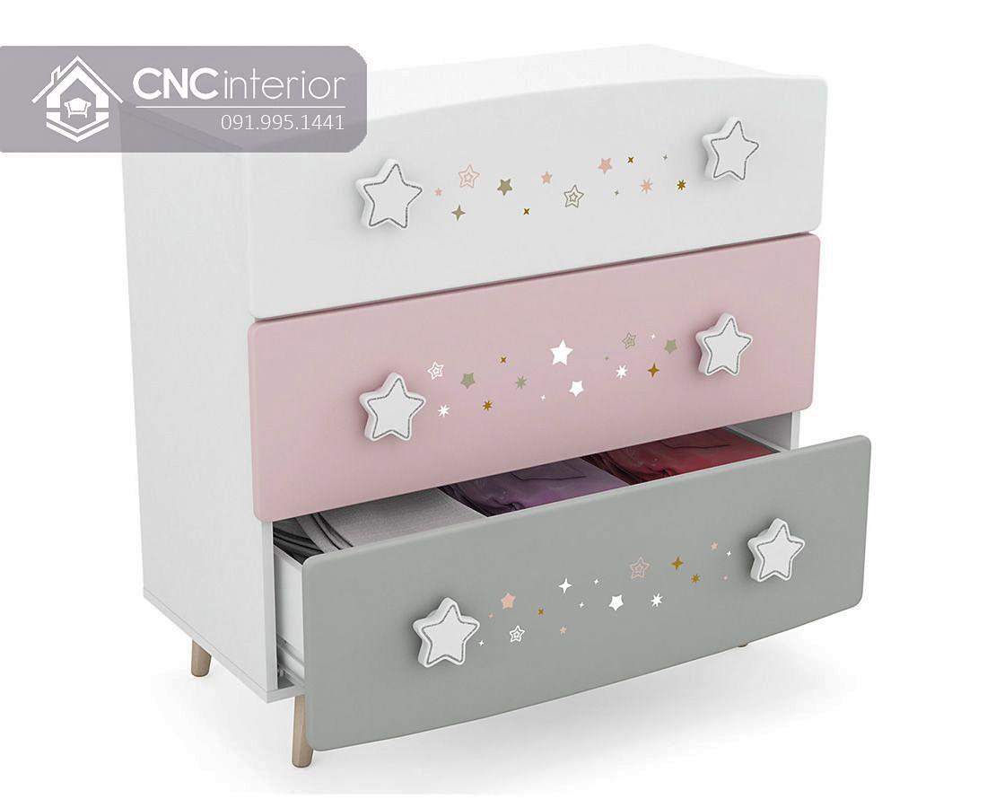 Tủ đồ ngăn kéo đẹp cho em bé CNC 51 2