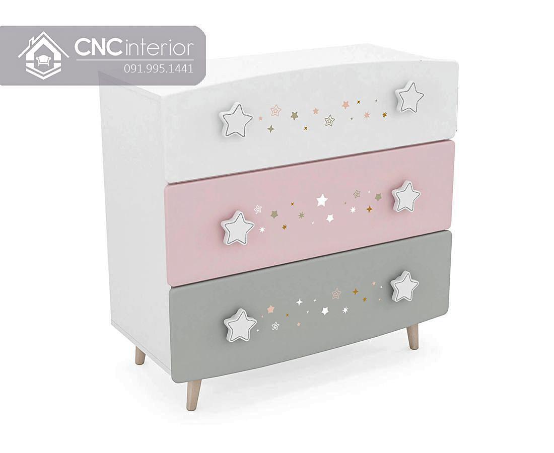 Tủ đồ ngăn kéo đẹp cho em bé CNC 51 1