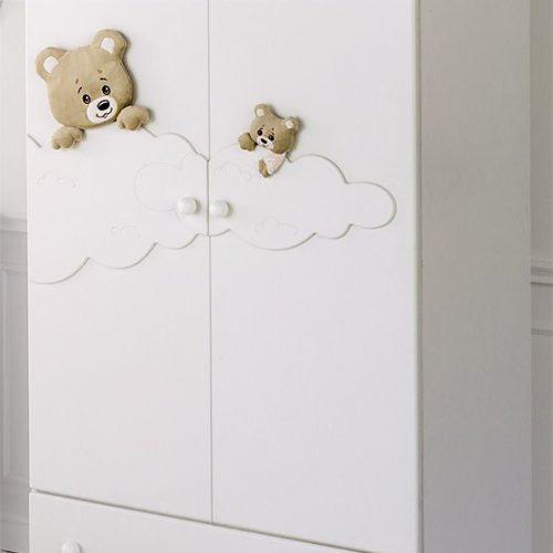 Tủ quần áo trẻ em bằng gỗ cnc 52