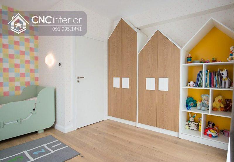 Tủ quần áo trẻ em bằng gỗ cnc 53