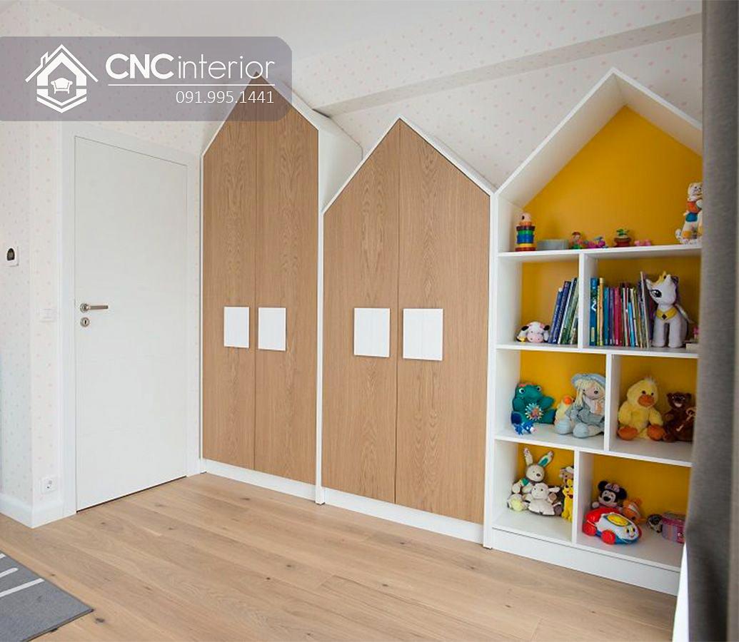 Tủ quần áo ngôi nhà cho bé trai đẹp CNC 53 2