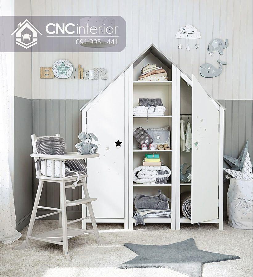 Tủ đồ em bé hình ngôi nhà độc đáo CNC 54