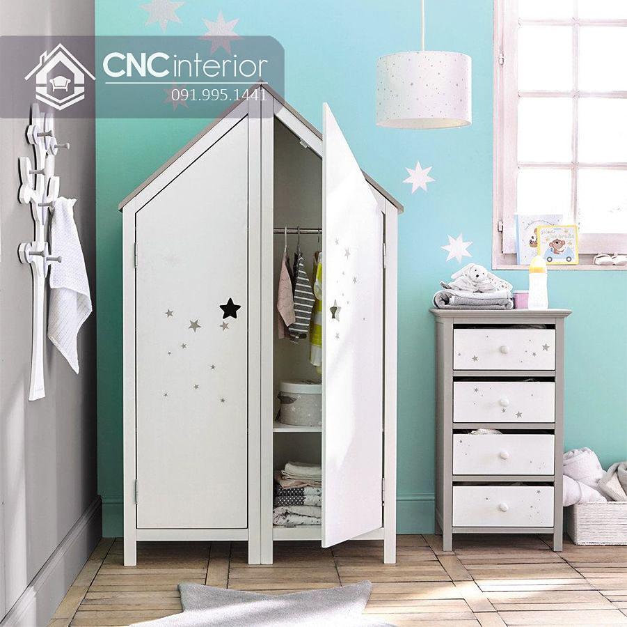 Tủ đồ em bé hình ngôi nhà độc đáo CNC 54 2
