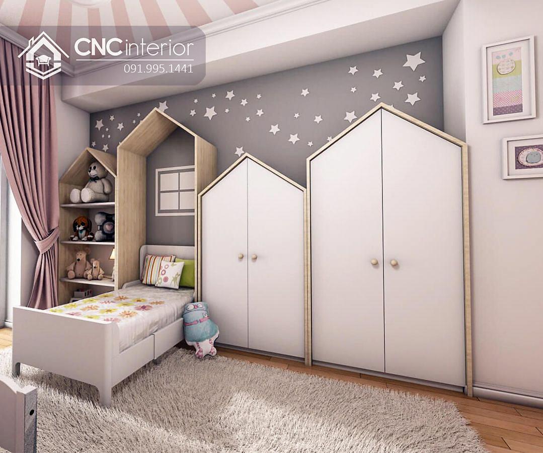 Tủ quần áo liền giường ngủ cho bé CNC 55 1