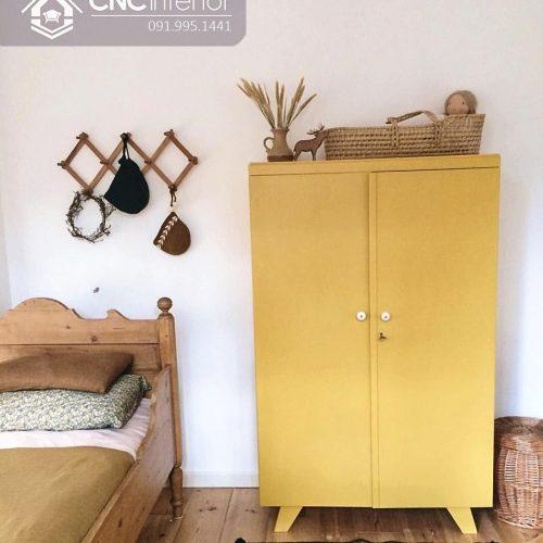 Tủ quần áo trẻ em bằng gỗ cnc 58
