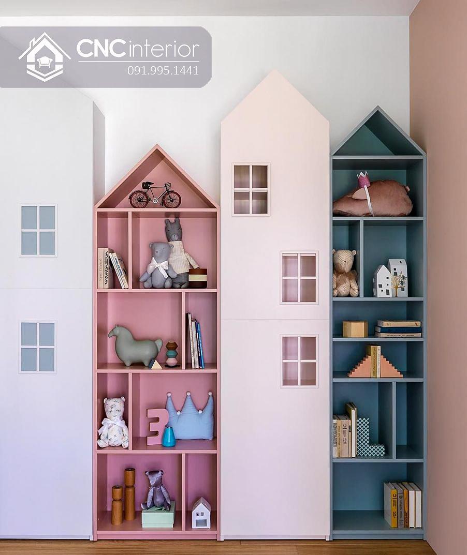 Tủ đồ em bé kết hợp kệ hình ngôi nhà CNC 59 1