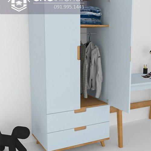 Tủ quần áo trẻ em bằng gỗ cnc 63