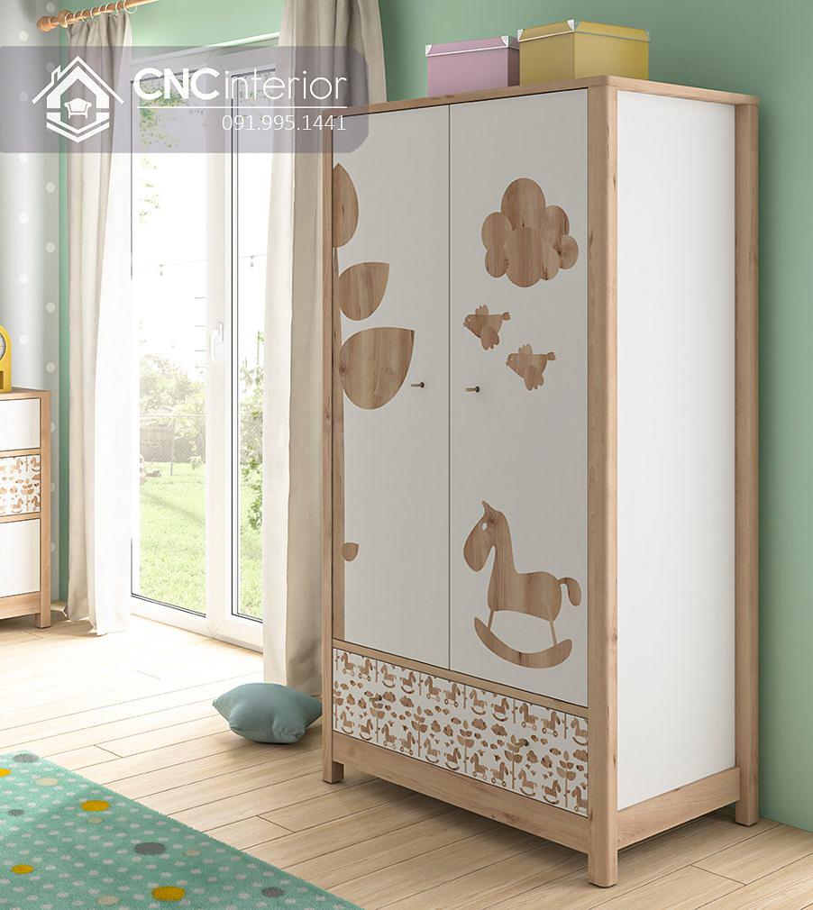 Tủ đồ em bé đẹp bằng gỗ công nghiệp CNC 64