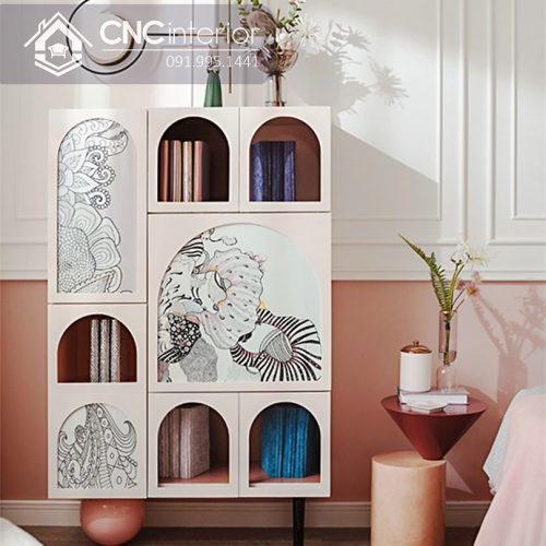 Tủ quần áo trẻ em bằng gỗ cnc 06