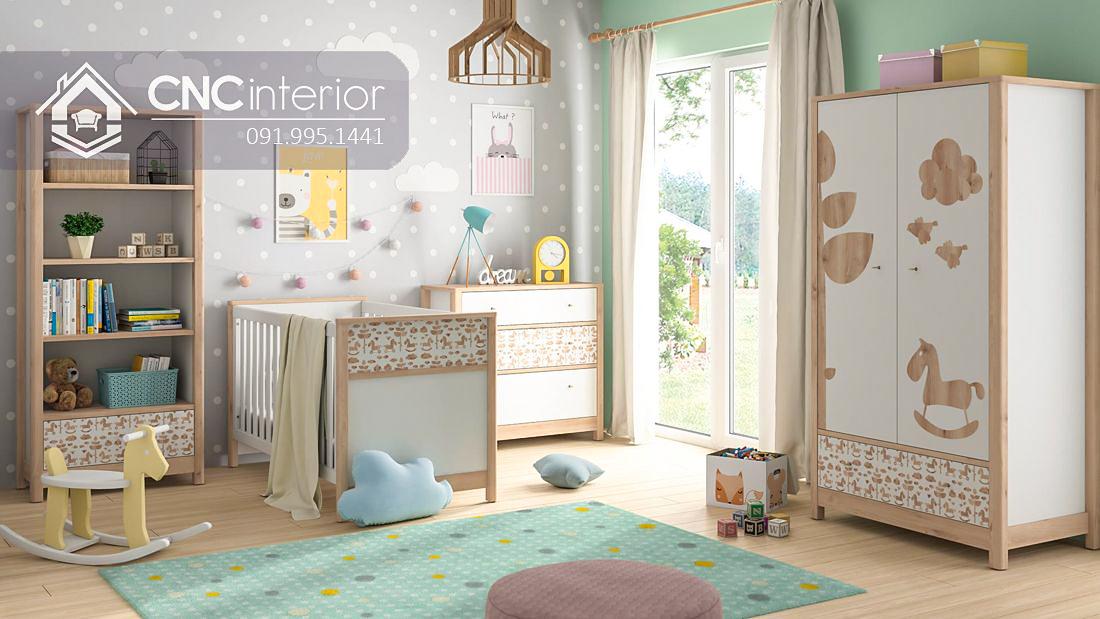 Tủ đồ em bé đẹp bằng gỗ công nghiệp CNC 64 1