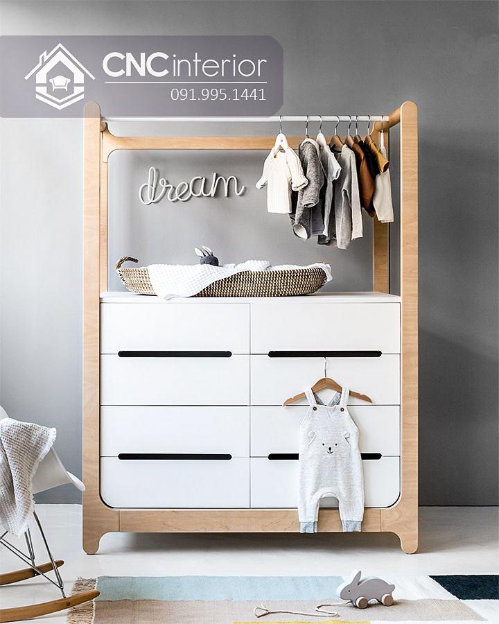 Tủ quần áo trẻ em bằng gỗ cnc 68