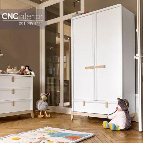 Tủ quần áo trẻ em bằng gỗ cnc 72