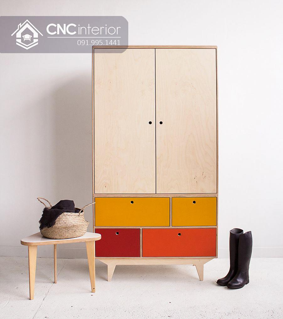 Tủ đựng quần áo trẻ em bằng gỗ  (5)