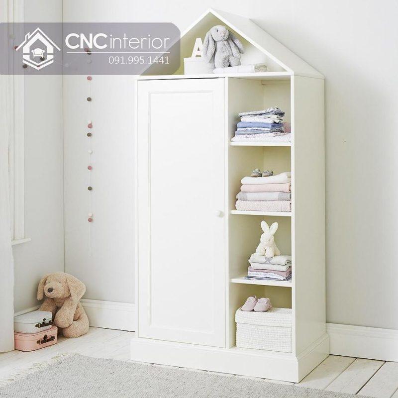 Tủ quần áo trẻ em bằng gỗ cnc 10
