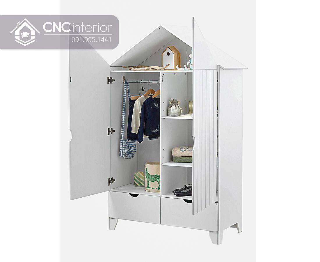 Tủ đồ em bé hình ngôi nhà đẹp CNC 16