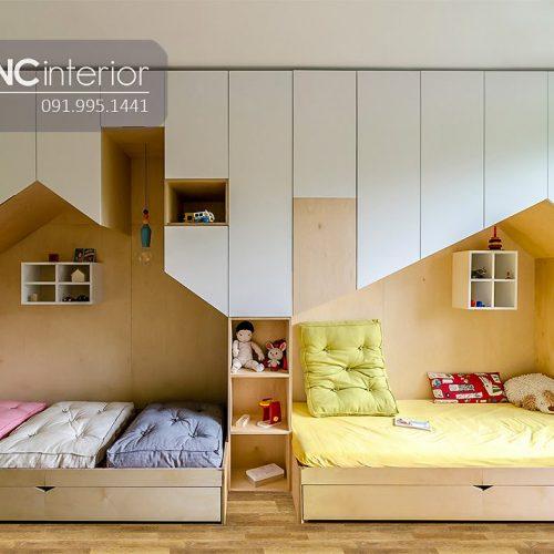 Tủ quần áo trẻ em bằng gỗ cnc 18