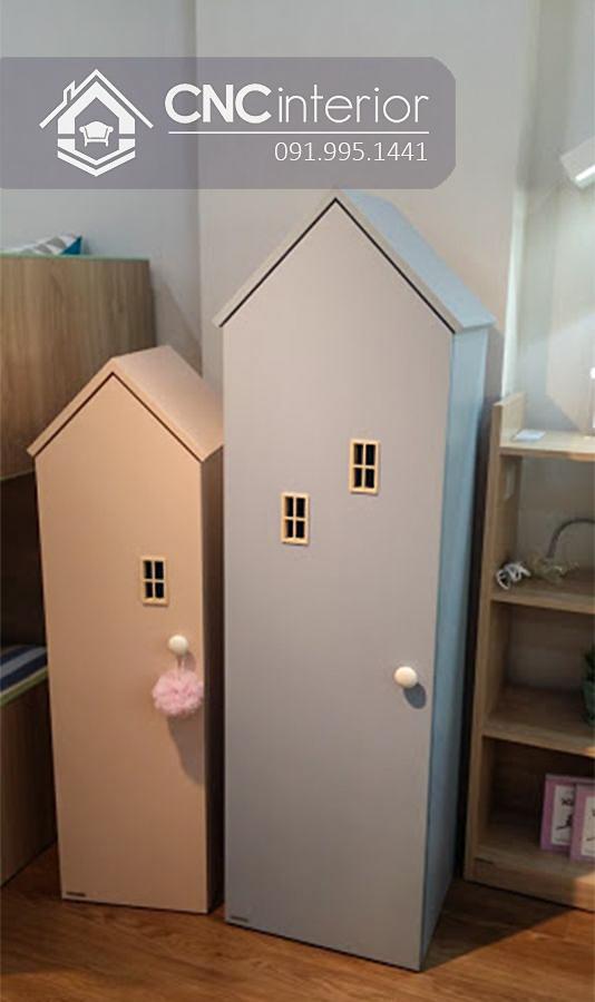 Tủ quần áo trẻ em bằng gỗ cnc 28