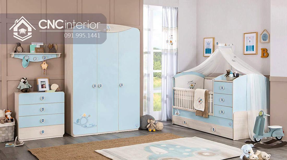 Tủ đựng quần áo đẹp hiện đại cho bé CNC 30